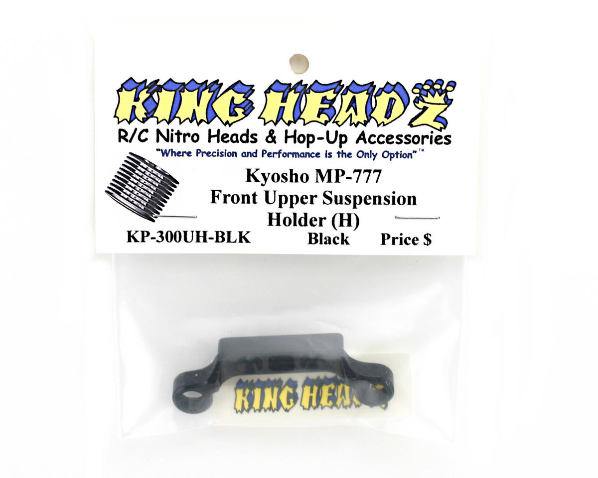Kyosho MP777 Front Upper Suspension Holder (H) - Black by King Headz