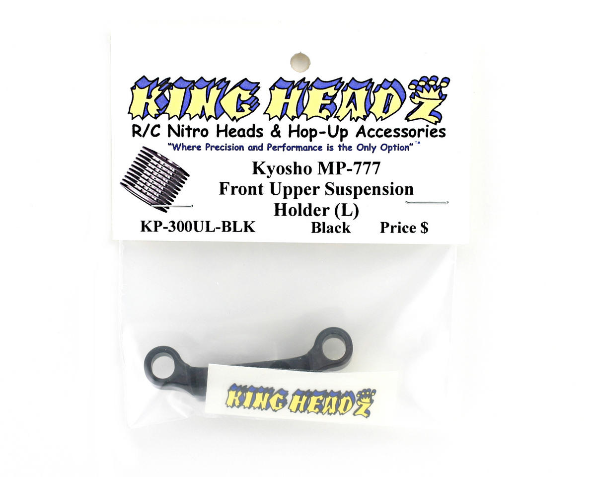 King Headz Kyosho MP777 Front Upper Suspension Holder (L) - Black