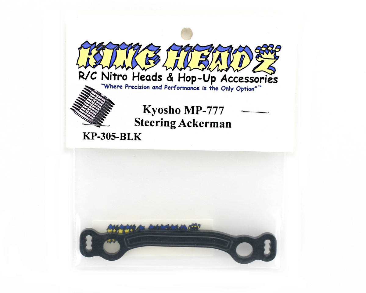 Kyosho MP777 Steering Ackerman Plate - Black by King Headz