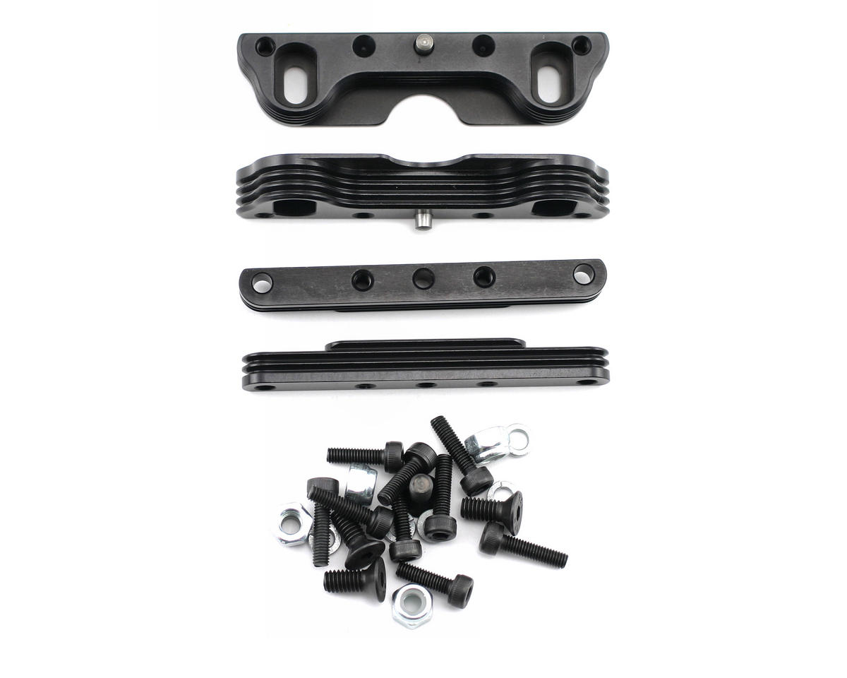 King Headz Kyosho MP777/ST-R Two Piece Motor Mount (Black)