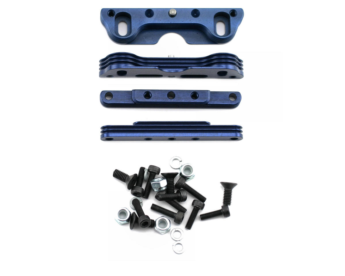 King Headz Kyosho MP777/ST-R Two Piece Motor Mount (Blue)