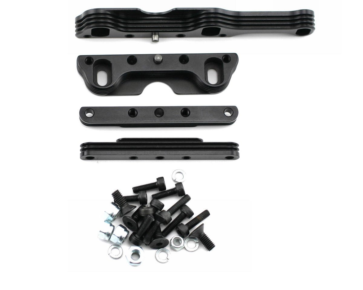 King Headz Kyosho MP777/ST-R Two Piece Extended Motor Mount (Black)