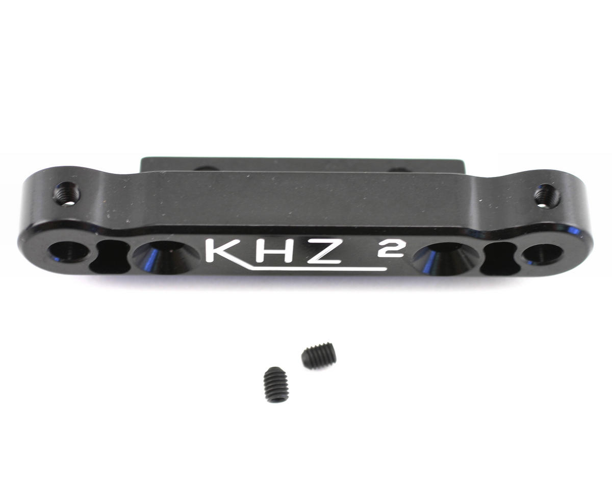 King Headz Kyosho MP777 Rear Toe-In Plate (2 degree) - Black