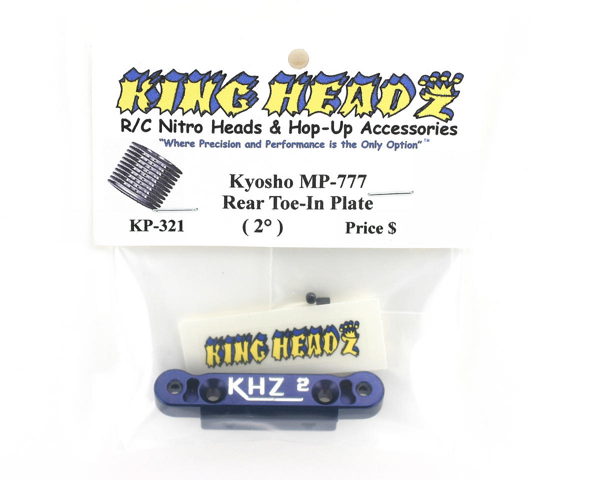 King Headz Kyosho MP777 Rear Toe-In Plate (2 degree)