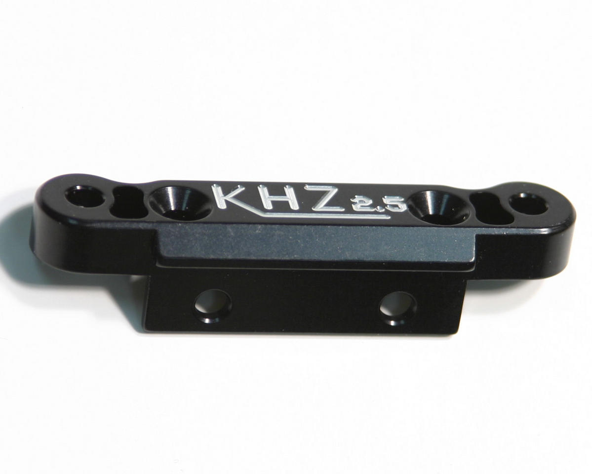 King Headz Kyosho MP777 Rear Toe-In Plate (2.5 degree) - Black