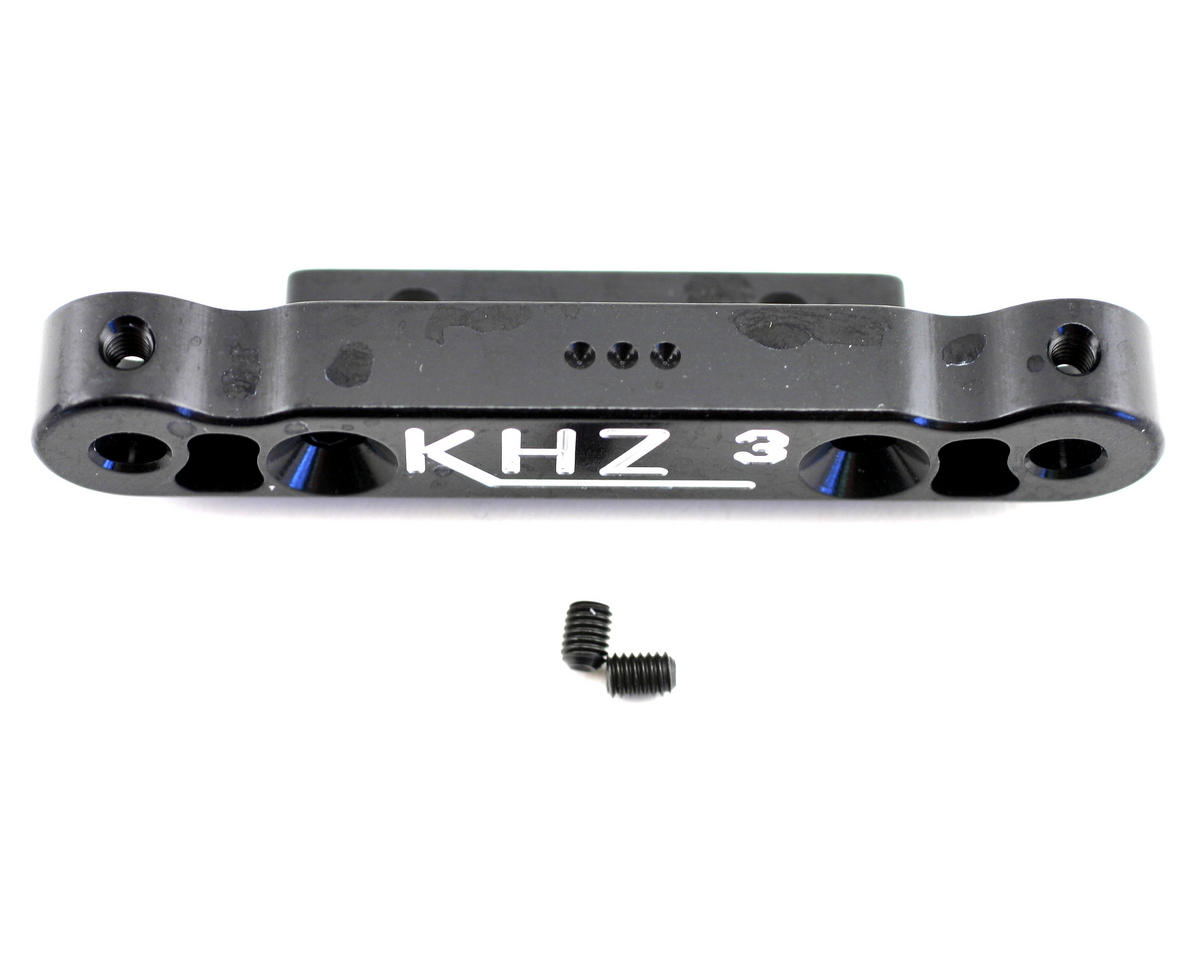 Kyosho MP777 Rear Toe-In Plate (3 degree) - Black by King Headz