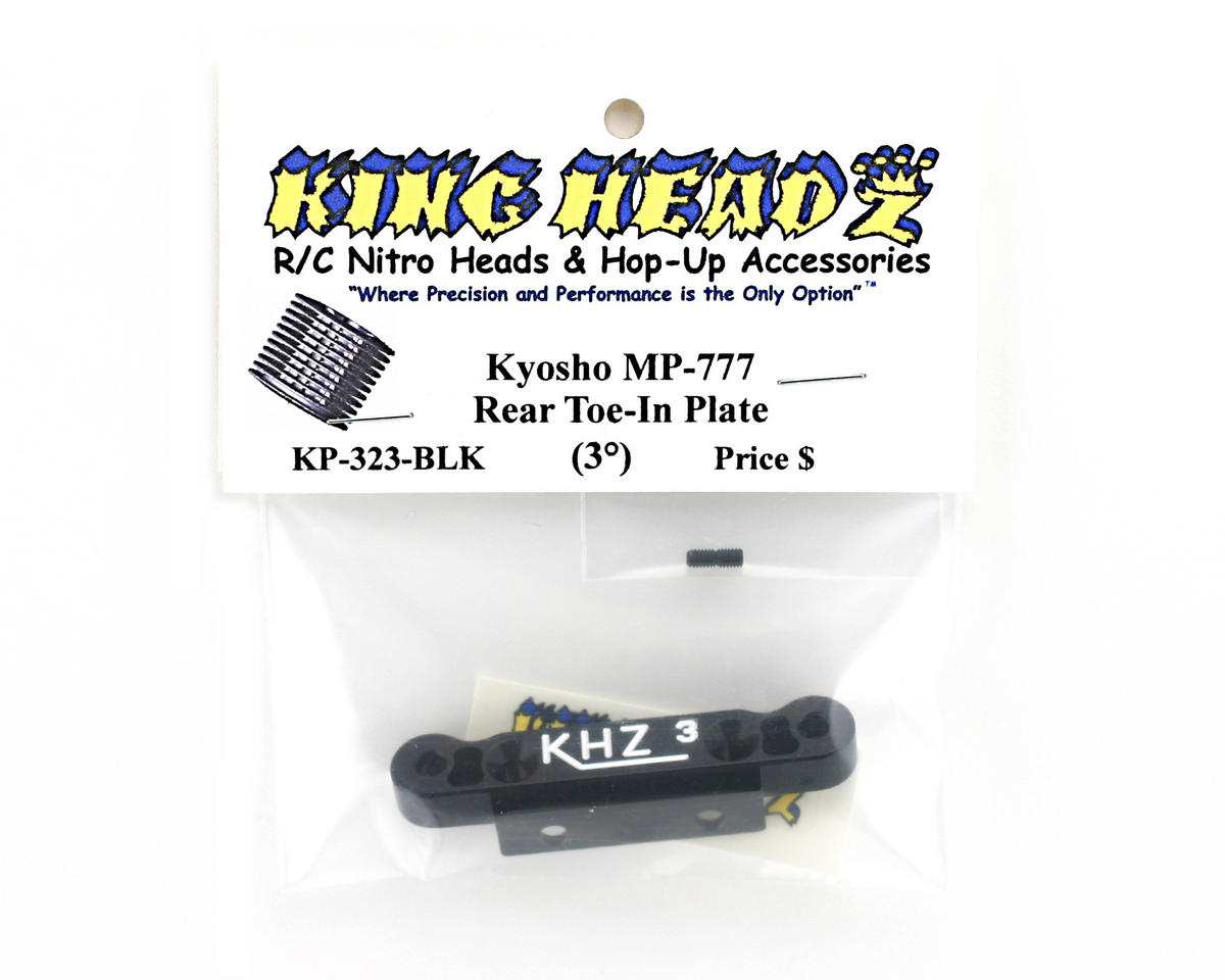 King Headz Kyosho MP777 Rear Toe-In Plate (3 degree) - Black
