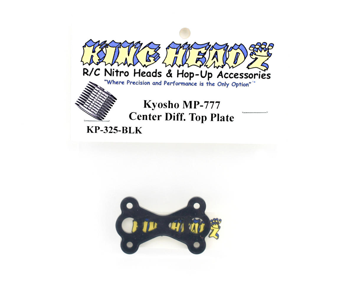 King Headz Kyosho MP777 Center Diff Top Plate - Black