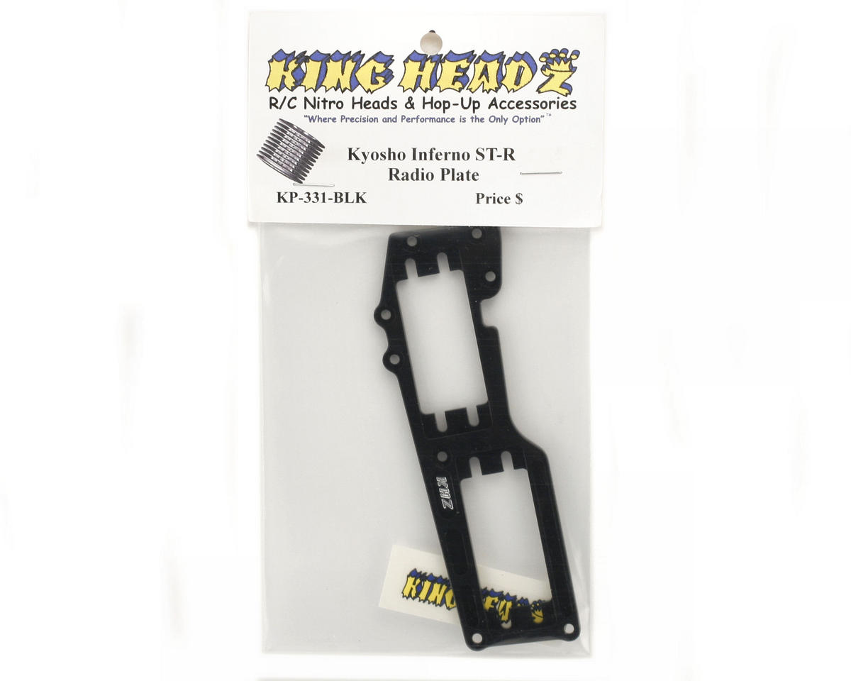 King Headz Kyosho Inferno ST-R - Radio Plate (Black)