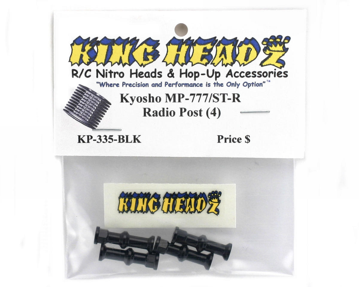 King Headz Kyosho Inferno MP777/ST-R Radio Post Set (Black) (4)