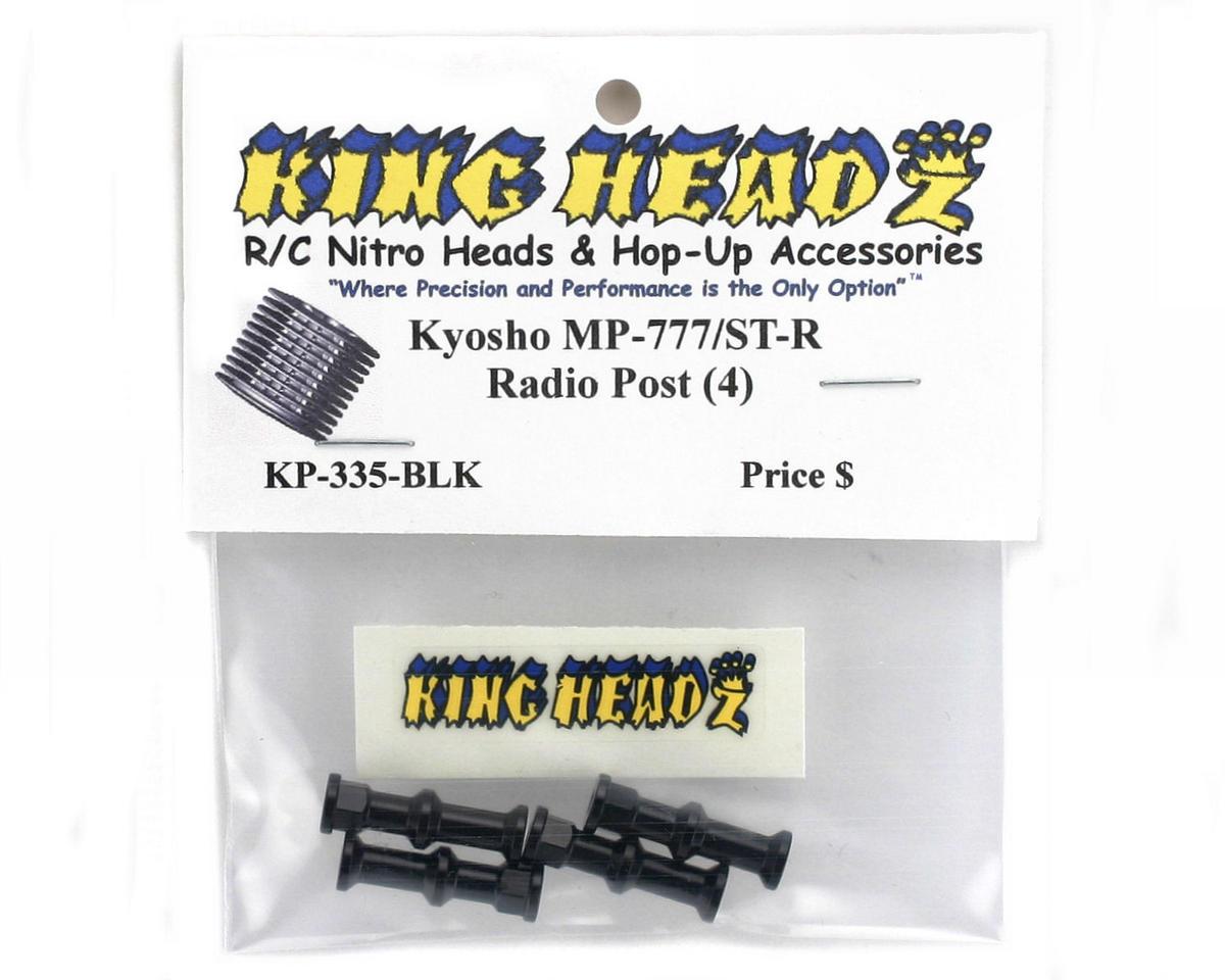 Kyosho Inferno MP777/ST-R Radio Post Set (Black) (4) by King Headz