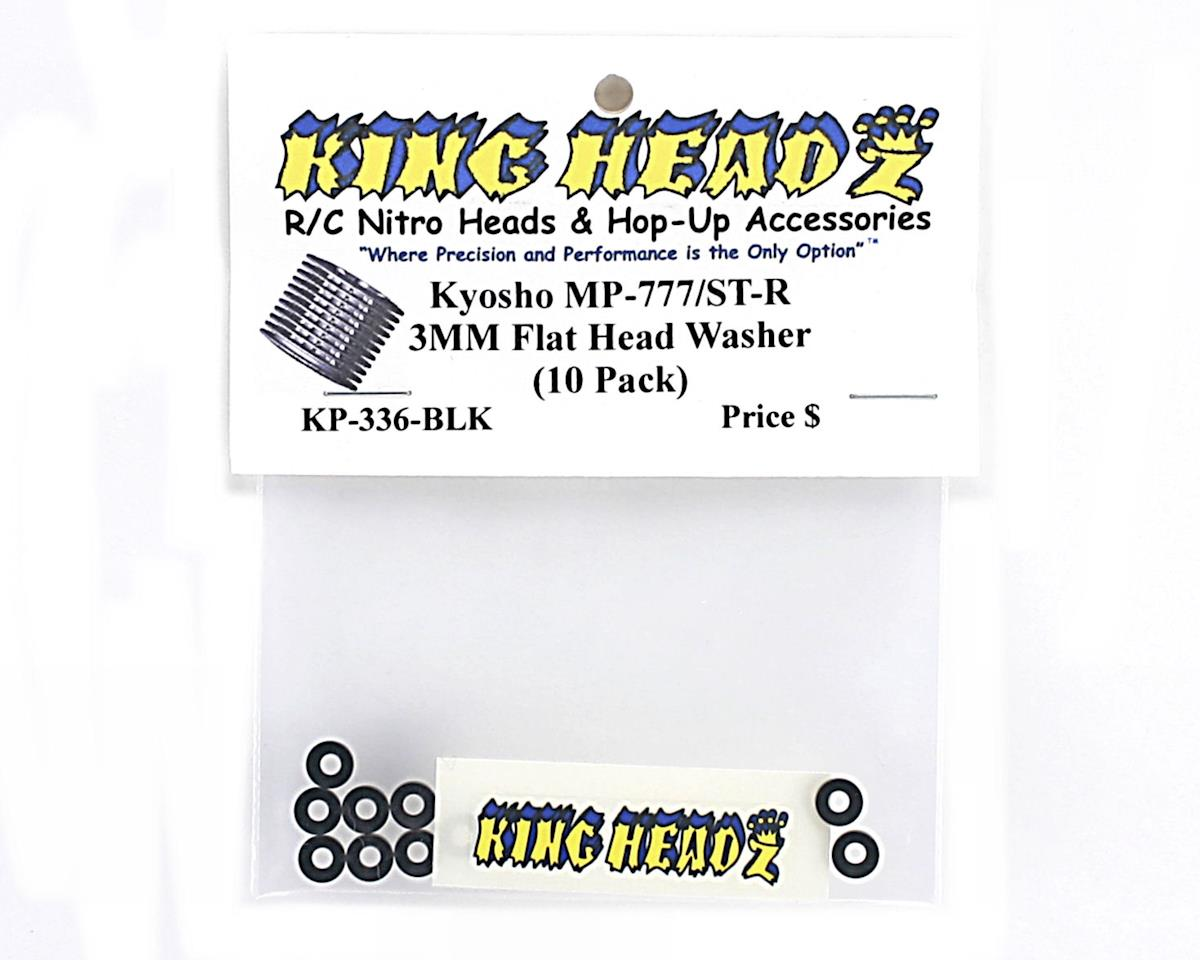 King Headz Kyosho 3mm Flat Head Washer (Black) (10)