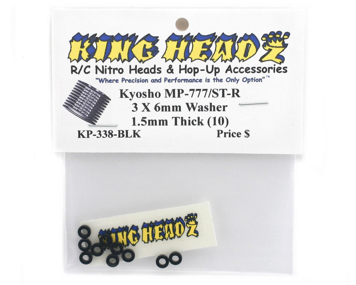 Image 2 for King Headz Kyosho Inferno MP777/ST-R 3x6x1.5mm Aluminum Washer (10)