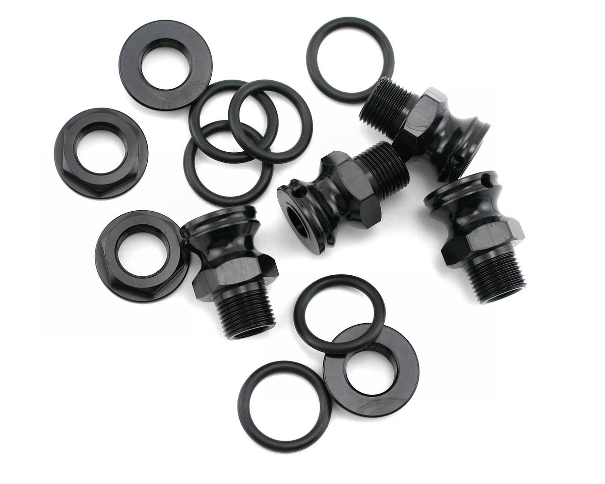 King Headz Kyosho MP-777/ST-R-17mm Wheel Hubs-Extended +12mm (Black)