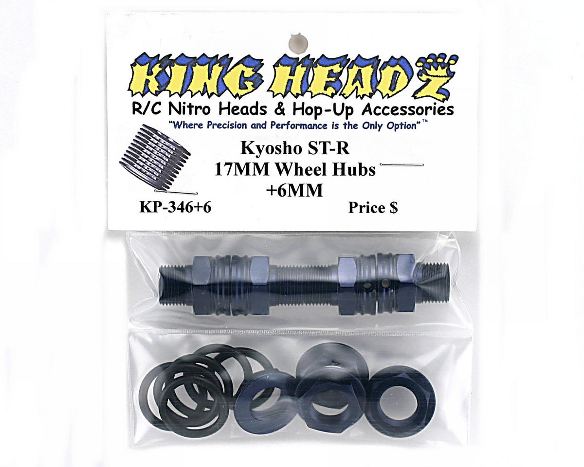 King Headz Kyosho MP-777/ST-R-17mm Wheel Hubs-Extended +6mm (Blue)