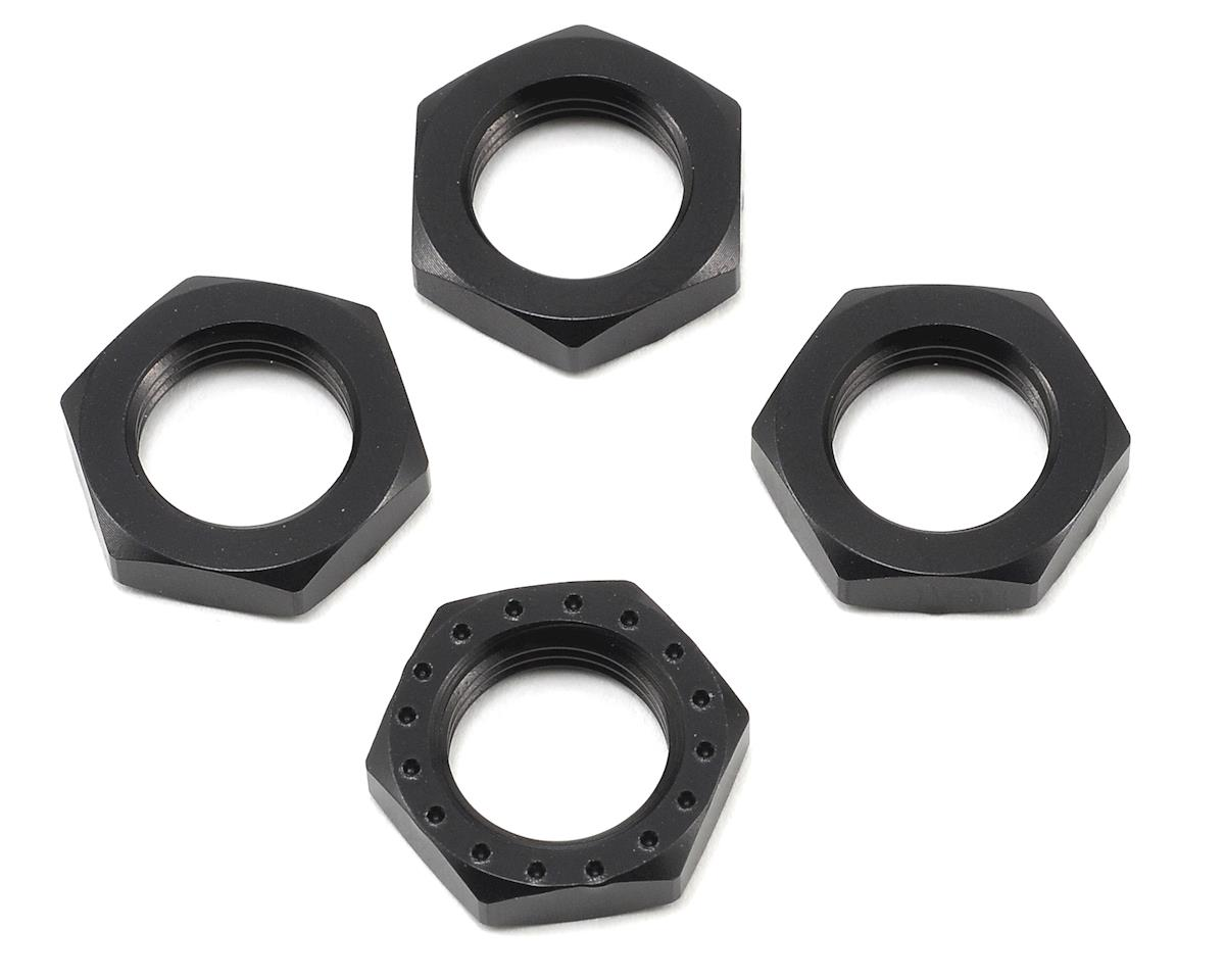 King Headz 17mm Fine Thread Wheel Nut (Black) (4) (HB Racing Lightning Stadium)