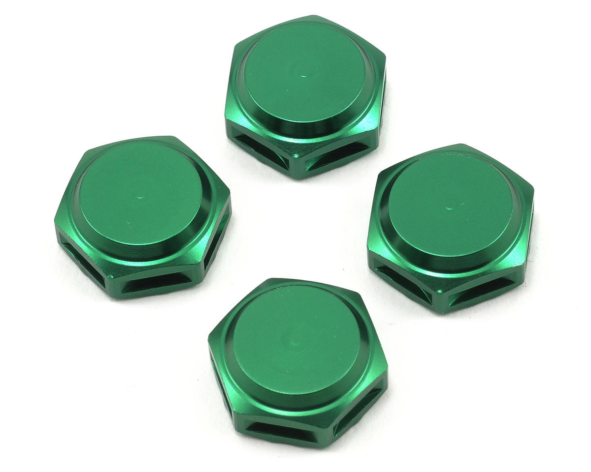 17mm Fine Thread Closed End Wheel Nut (Green) (4) by King Headz