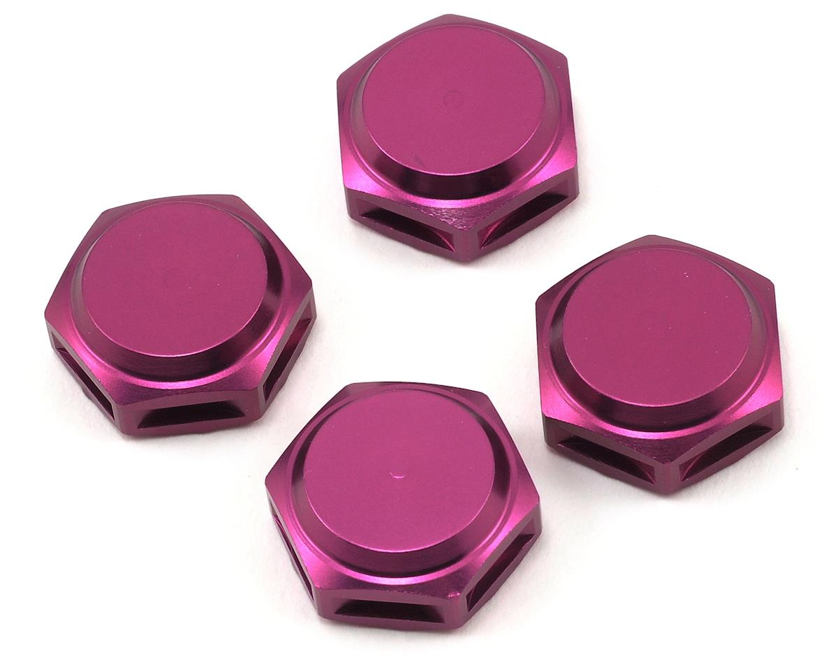 King Headz 17mm Fine Thread Closed End Wheel Nut (Purple) (4) (Hot Bodies Lightning Pro 2)
