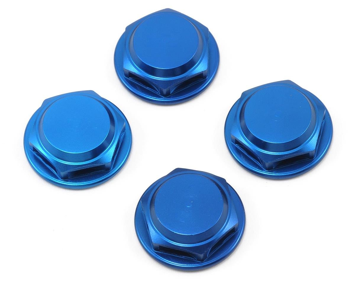 King Headz 17mm Coarse Thread Flanged Closed End Wheel Nut (Blue) (4) (OFNA Jammin X2)