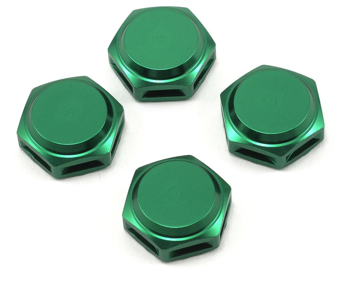 King Headz 17mm Coarse Thread Closed End Wheel Nut (Green) (4)