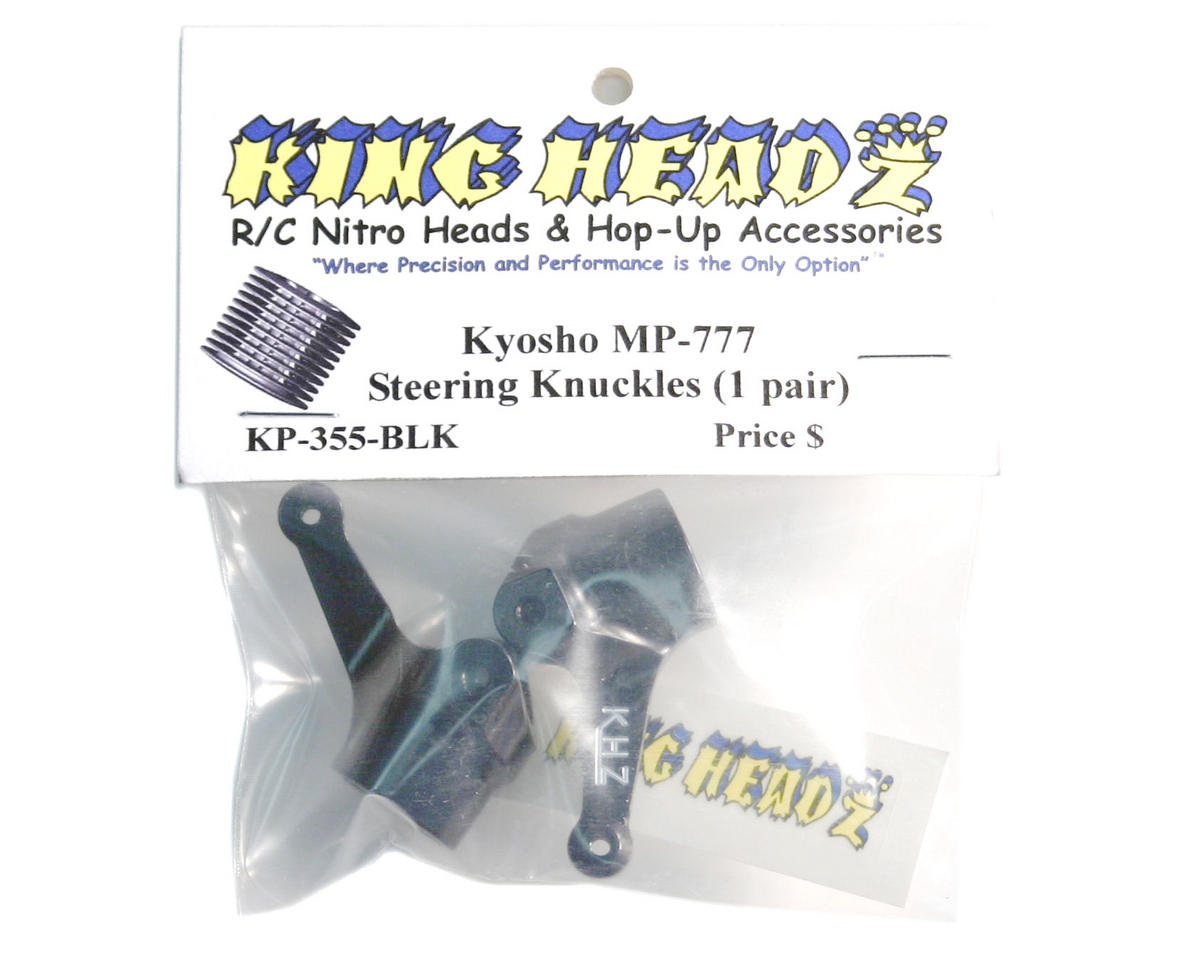 King Headz Kyosho MP7.5/MP777/Hot Bodies Front Steering Knuckles - Black