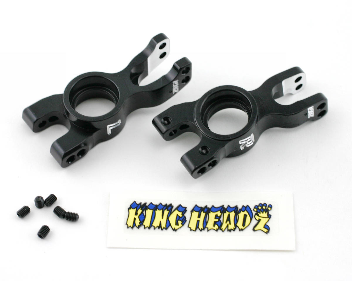 King Headz Kyosho Inferno MP777 Rear Wheel Hubs (1 pair) - Black