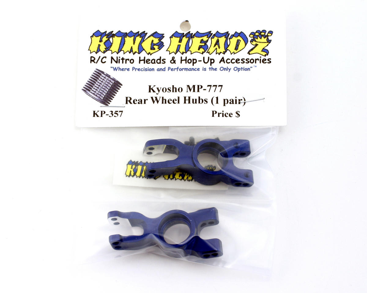 King Headz Kyosho Inferno MP777 Rear Wheel Hubs (1 pair) - Blue