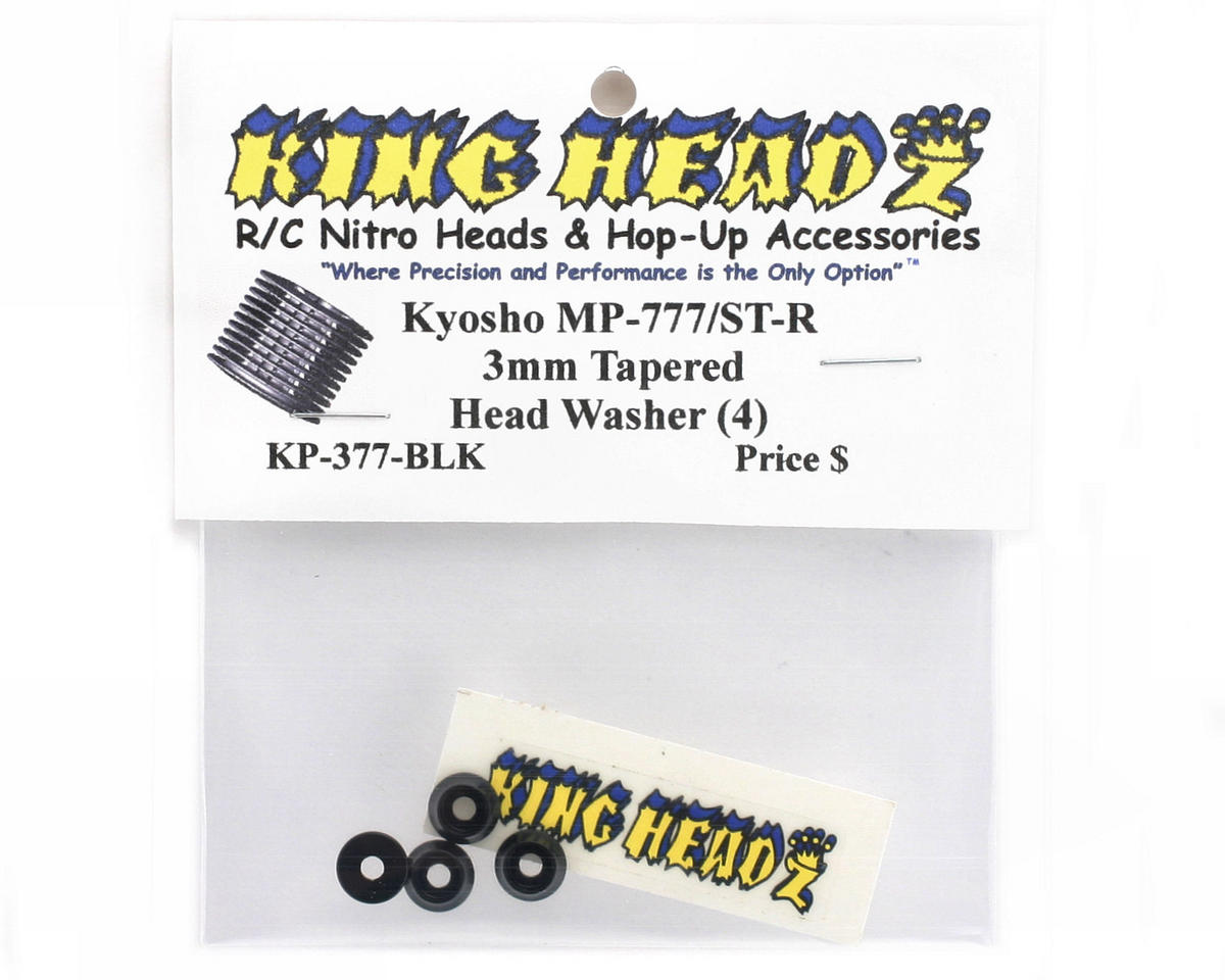 King Headz Kyosho Inferno MP777/ST-R 3mm Tapered Head Washer (4)