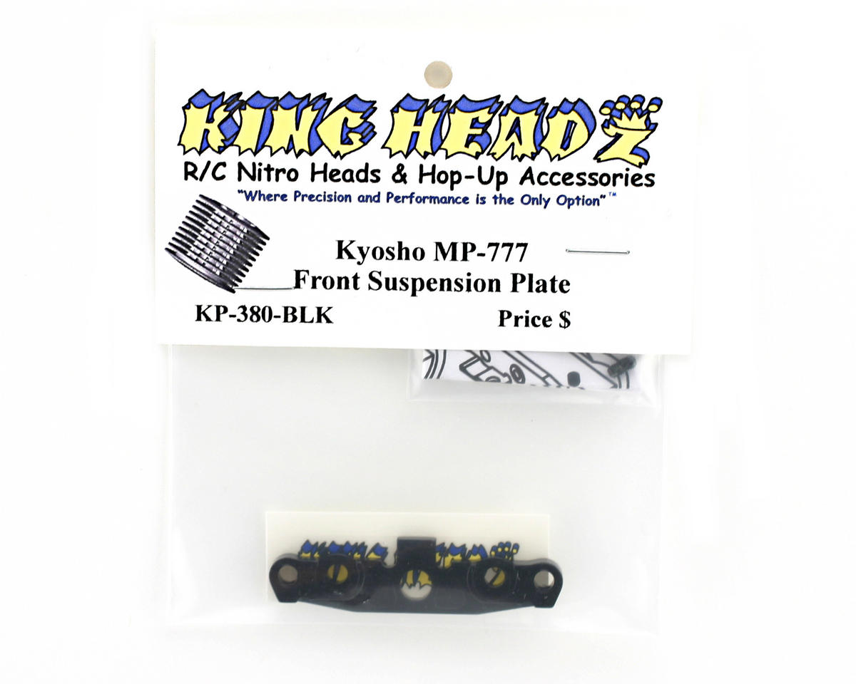 King Headz Kyosho MP777 Front Lower Suspension Plate - Black