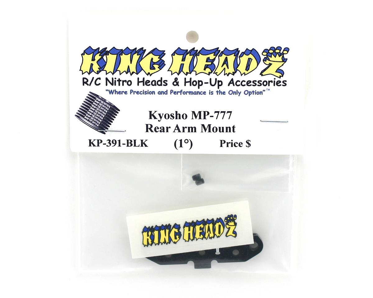 King Headz Kyosho MP777 Rear Arm Mount (1 degree) - Black
