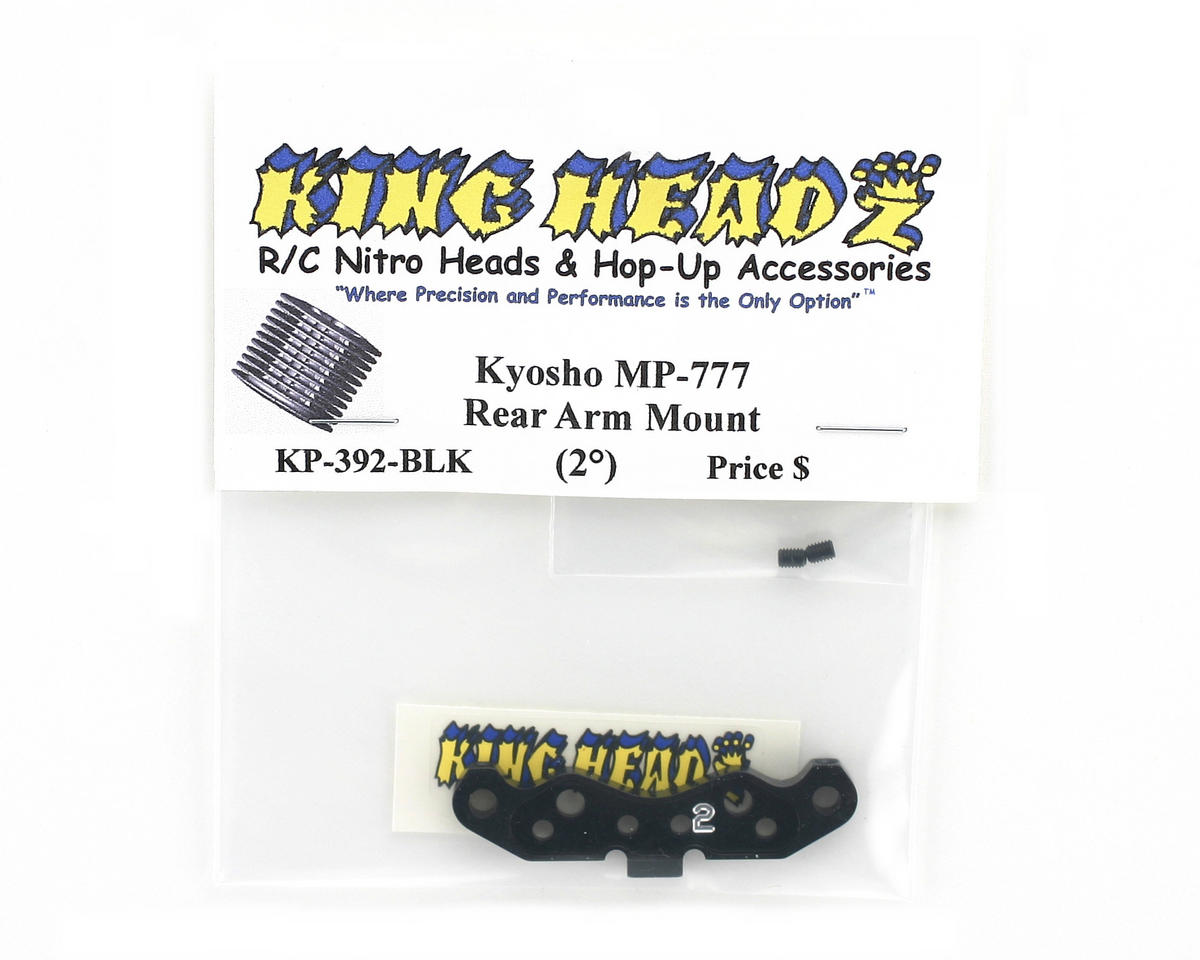 King Headz Kyosho MP777 Rear Arm Mount (2 degree) - Black