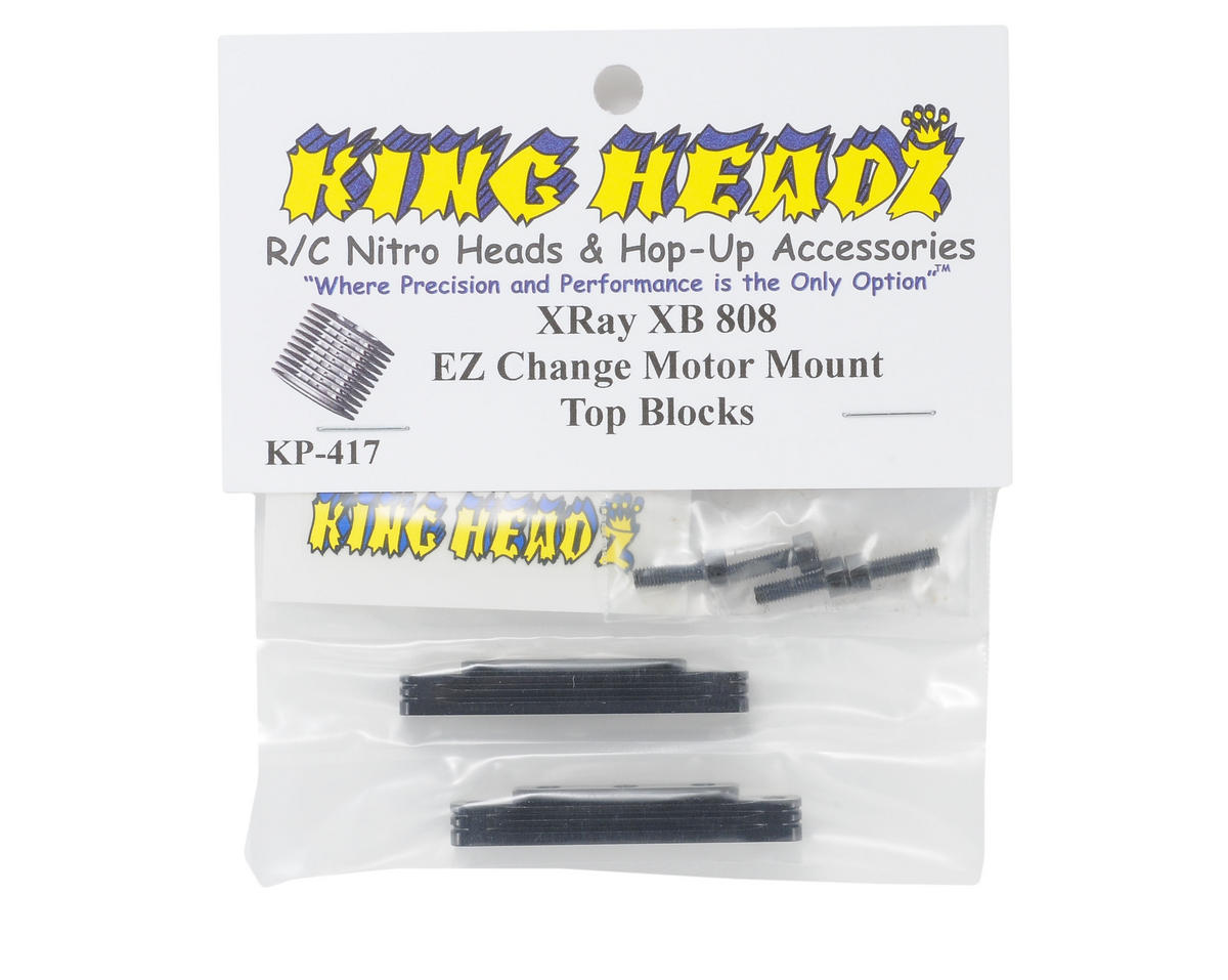 King Headz XRAY XB 808 EZ Change Motor Mount (Top Only)