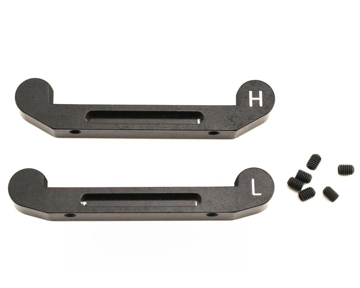 King Headz Mugen MBX5 Front Upper Arm Holder - H & L Blocks (Black)