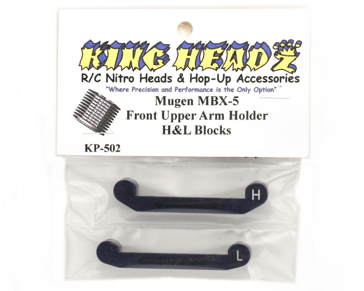 King Headz Mugen MBX5 Front Upper Arm Holder - H & L Blocks