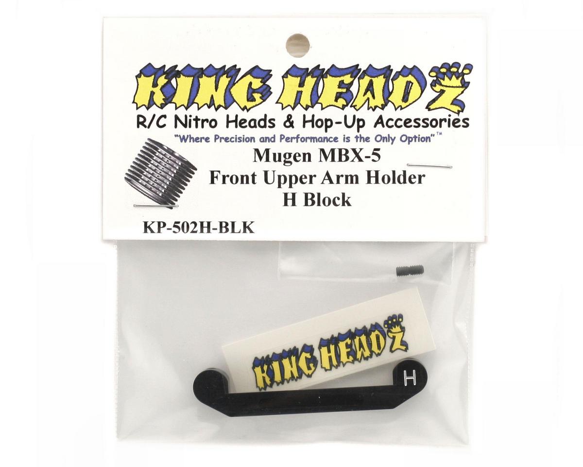 King Headz Mugen MBX5 Front Upper Arm Holder - H Block (Black)