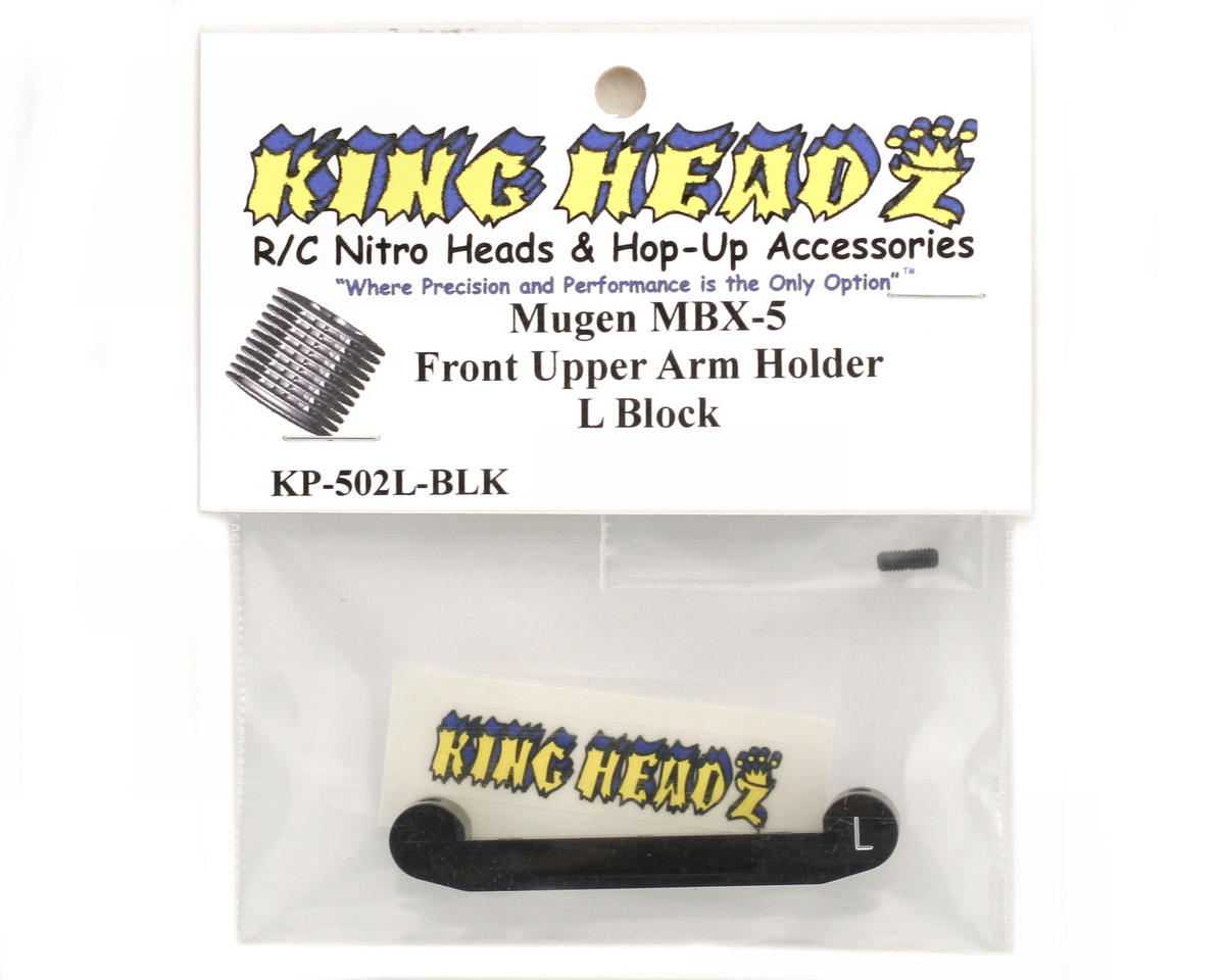 King Headz Mugen MBX5 Front Upper Arm Holder - L Block (Black)