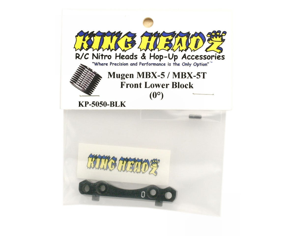 King Headz Mugen MBX5 Front Lower Block (0°) (Black)