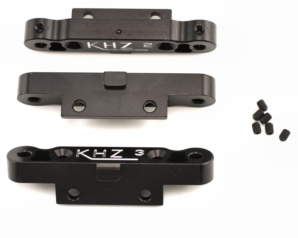 King Headz Mugen MBX5 Rear Toe-In Plate Set (2°, 2.5°, 3°) (Black)