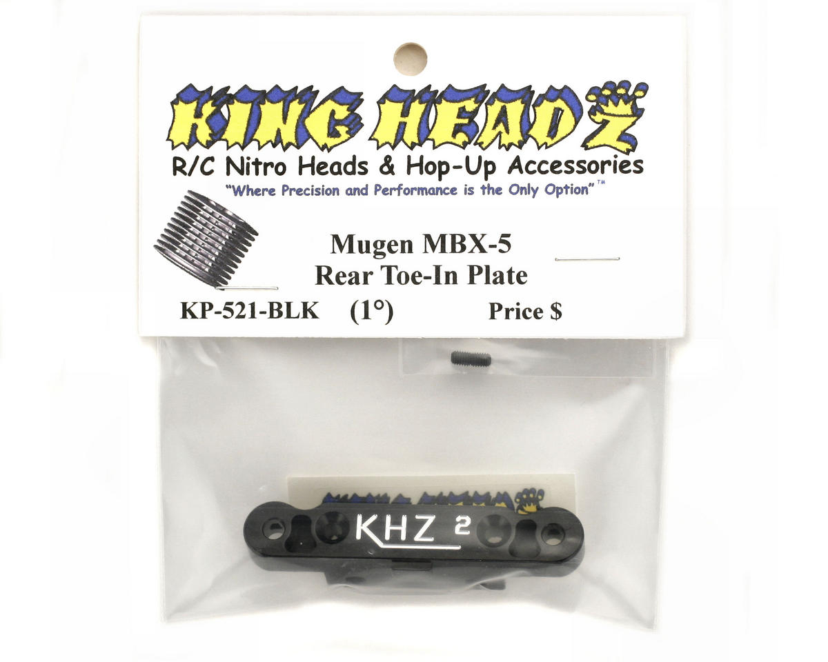 King Headz Mugen MBX5 Rear Toe-In Plate (2°) (Black)