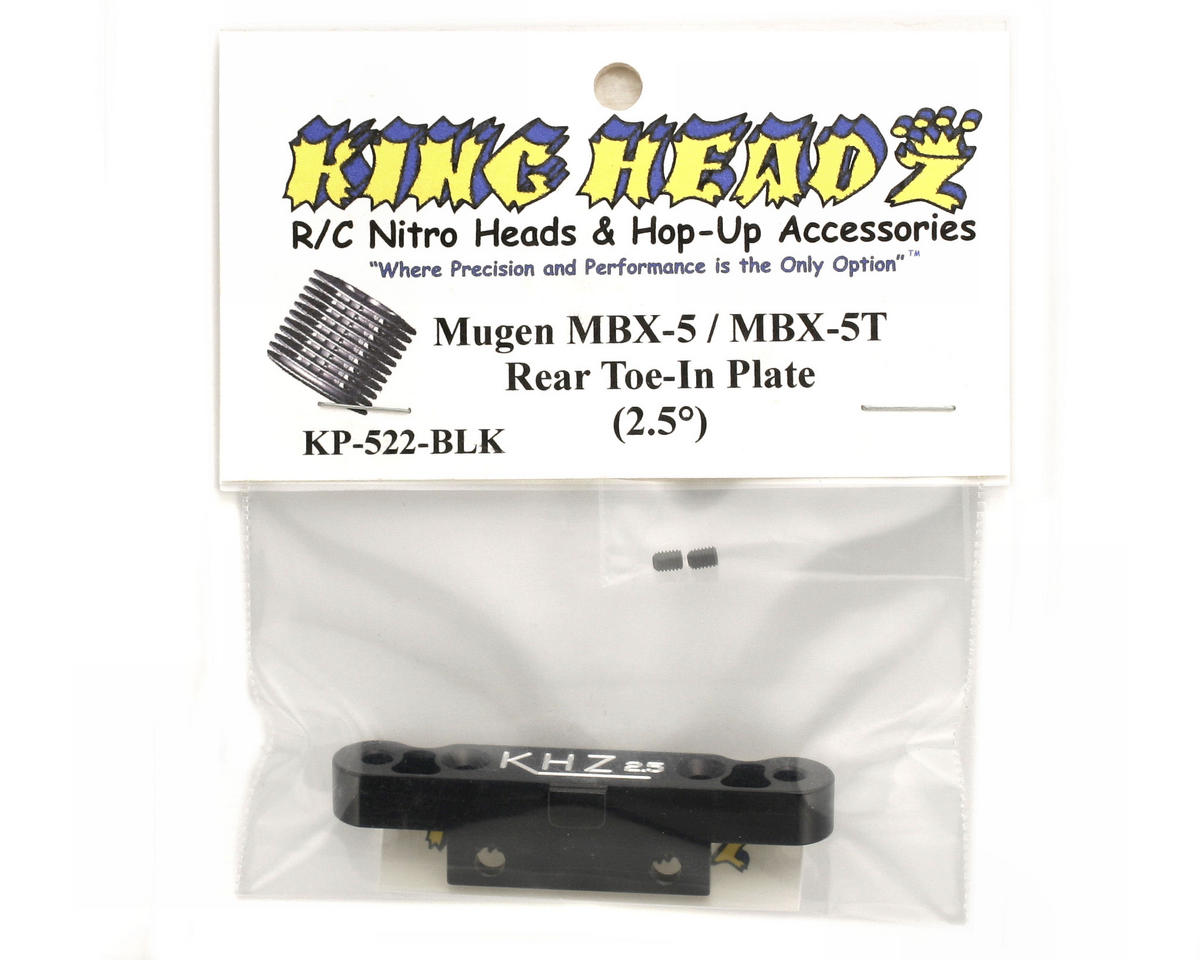 King Headz Mugen MBX5 Rear Toe-In Plate (2.5°) (Black)