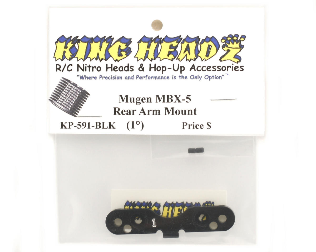 King Headz Mugen MBX5 Rear Arm Mount (1°) (Black)