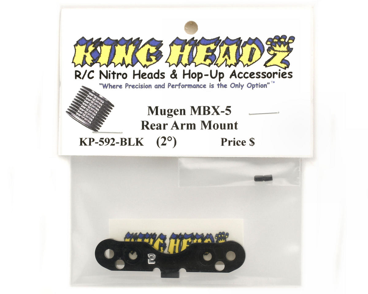 King Headz Mugen MBX5 Rear Arm Mount (2°) (Black)