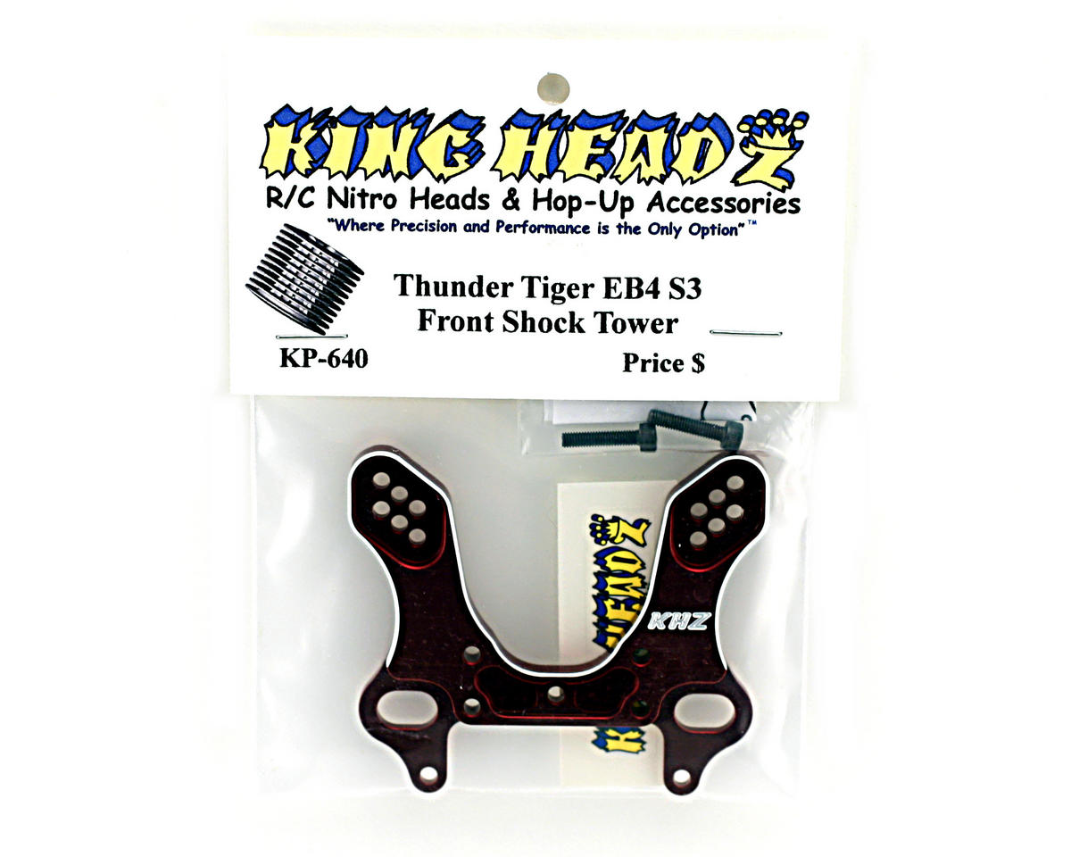 King Headz Thunder Tiger EB4 S3 Front Shock Tower (Red)