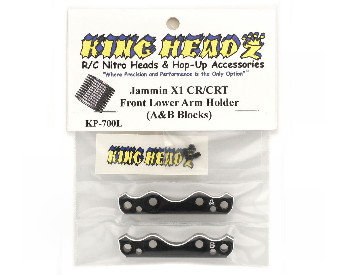 King Headz Jammin X1-CR/CRT Front Lower Suspension Holder Set (A & B Blocks)