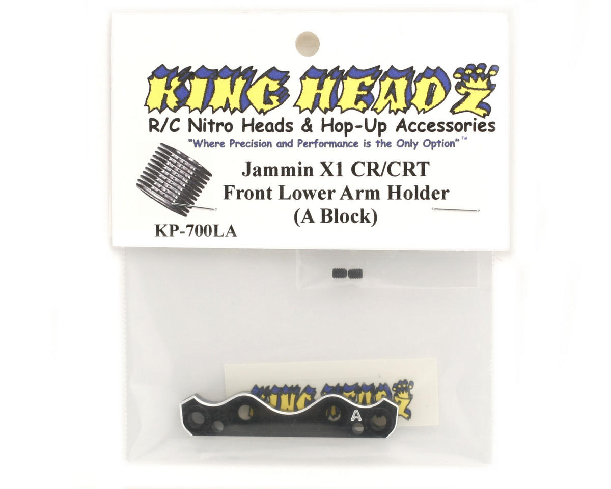King Headz Jammin X1-CR/CRT Front Lower Suspension Holder (A Block)
