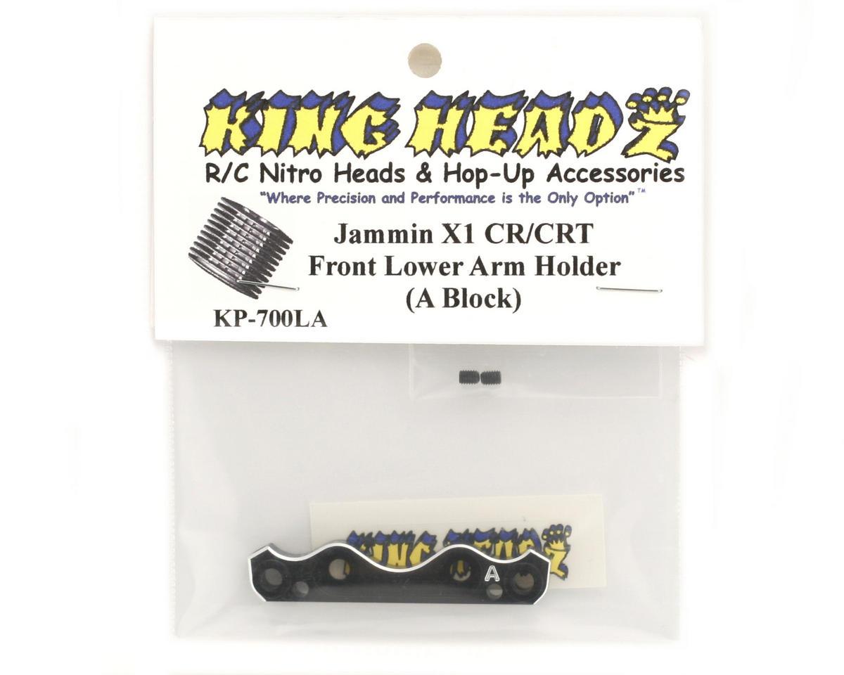 King Headz Jammin X1-CR/CRT Front Lower Suspension Holder (A Block)