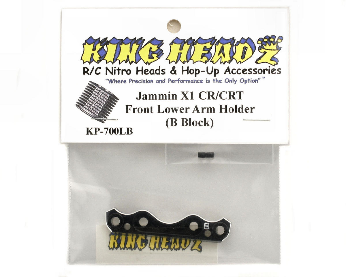 King Headz Jammin X1-CR/CRT Front Lower Suspension Holder (B Block)