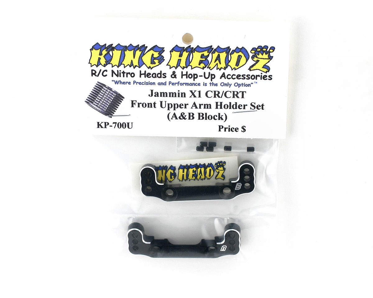 King Headz Jammin X1-CR/X1-CRT Front Upper Arm Holder (A & B Blocks) (Black)