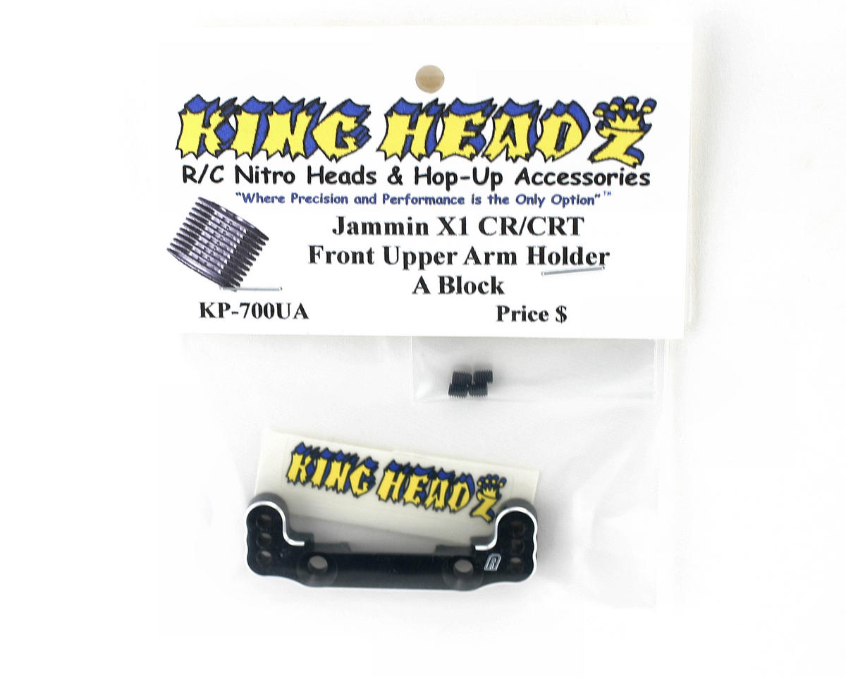 King Headz Jammin X1-CR/X1-CRT Front Upper Arm Holder (A Block) (Black)