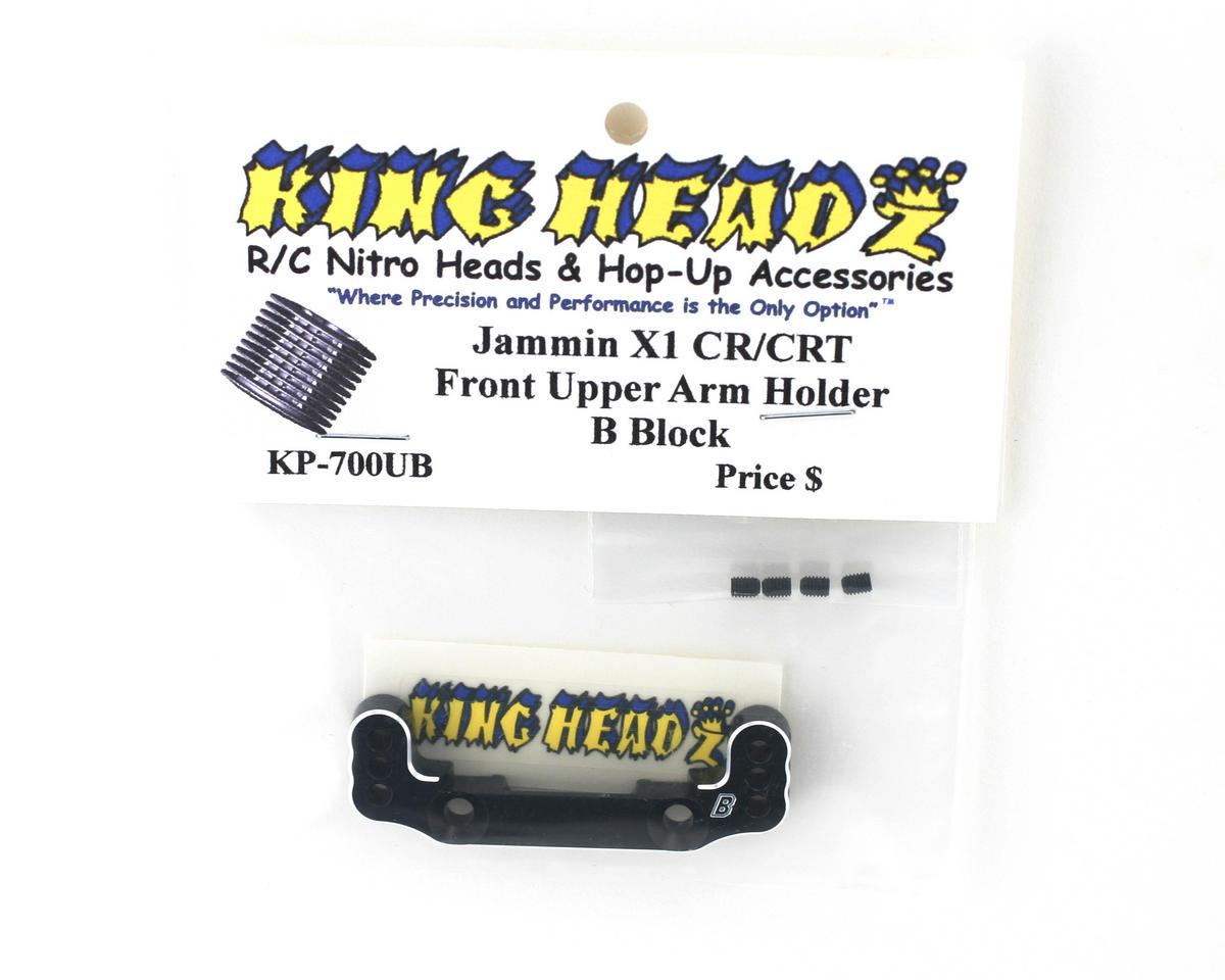 King Headz Jammin X1-CR/X1-CRT Front Upper Arm Holder (B Block) (Black)